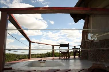 Sunken bathtub on the deck