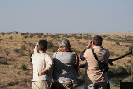 Guests enjoying Mara plains