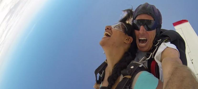 Skydiving over the KenyanCoast